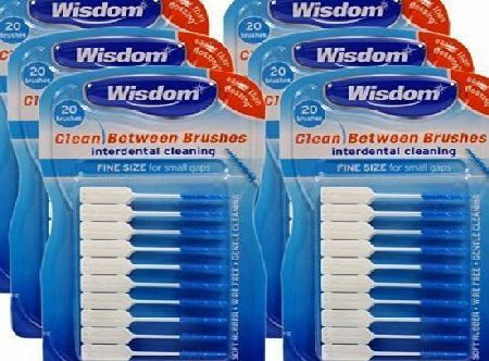 Wisdom 6x Wisdom Clean Between Interdental Brushes - Pack of 20 - Size Fine Blue Interdental brushes are the most effective way to remove plaque and clean the larger interdental spaces between teeth, they are also ideal for cleaning around bridgework and orthodontic appliances.Pro http://www.comparestoreprices.co.uk/december-2016-week-1/wisdom-6x-wisdom-clean-between-interdental-brushes--pack-of-20--size-fine-blue.asp