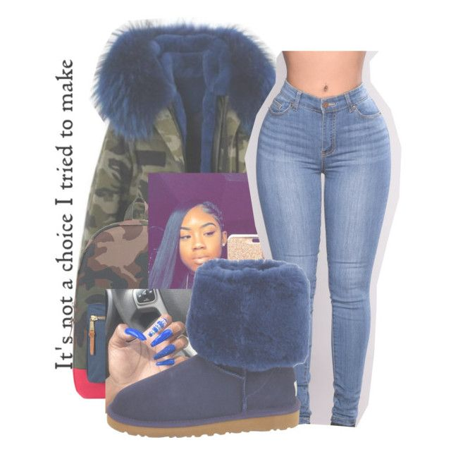 """""""warm like hot chocolate"""" by littydee ❤ liked on Polyvore featuring Herschel Supply Co. and UGG Australia"""