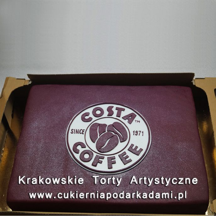 043. Tort dla Costa Coffee. Costa Coffee cake.