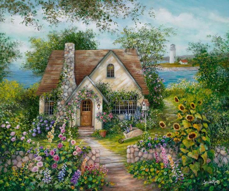 """Welcome Home"", a new painting I just finished. www.susanriosdesigns.com"