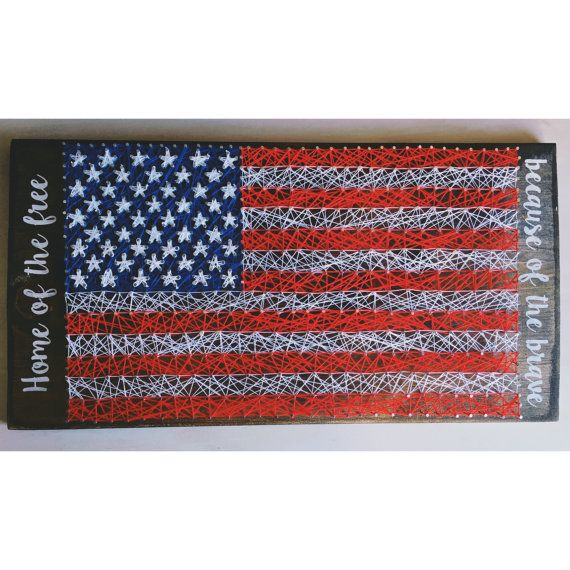 American Flag string art american flag american by Woodhammernails