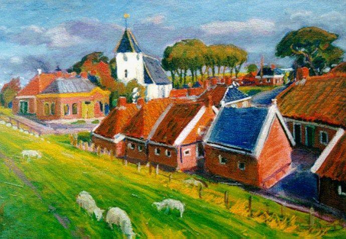 Gezicht op Oterdum, van Johan Dijkstra