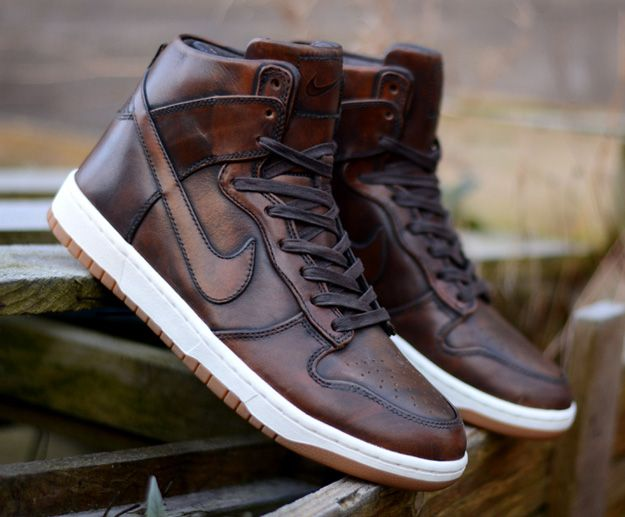 Nike Dunk High Burnished Leather