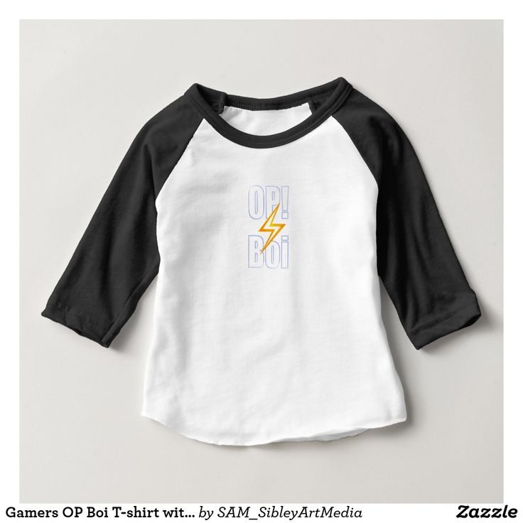 Gamers OP Boi T-shirt with lightening back