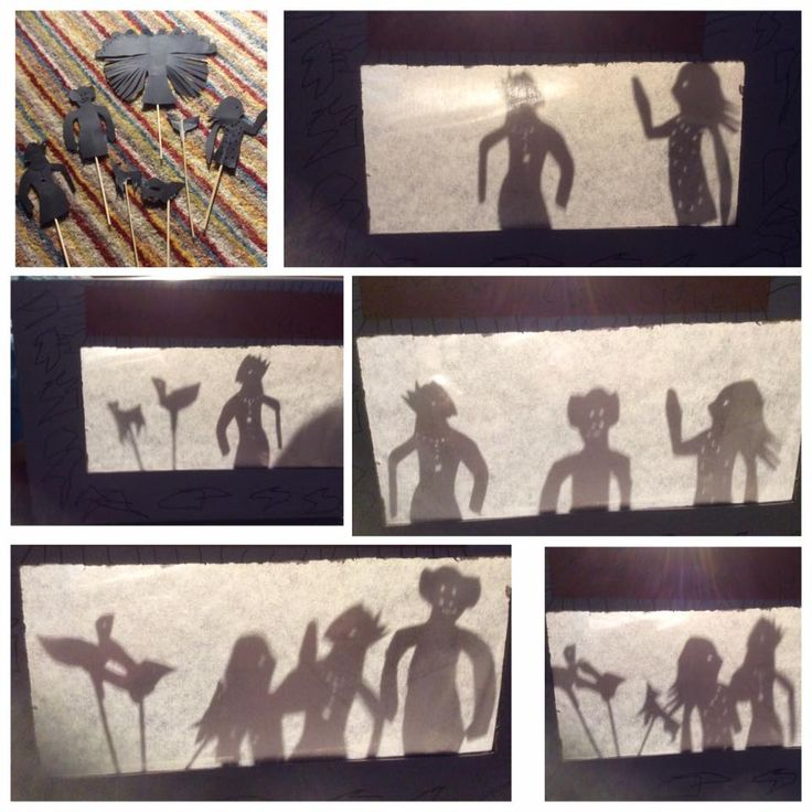 "Activity 59. Catherine and Mummy made a shadow puppet theatre- so Catherine could retell the story of ""Rama and Sita""."