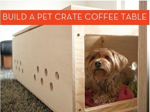 #DIY pet crate coffee table!