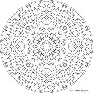 Eat The Paste Geometric Mandala