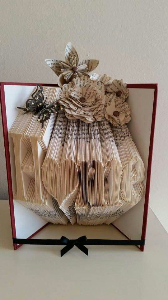 Home with a heart book fold
