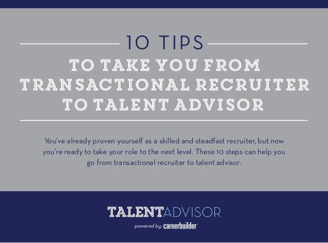 Transactional Recruiting is Reactional Recruiting; Take Control of Your Recruiting By Being Consultative!