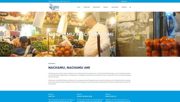 Nachamu Nachamu Ami had net een nieuw logo en ontwerp voor de nieuwsbrief laten ontwikkelen en vroegen ons om de website te vernieuwen.