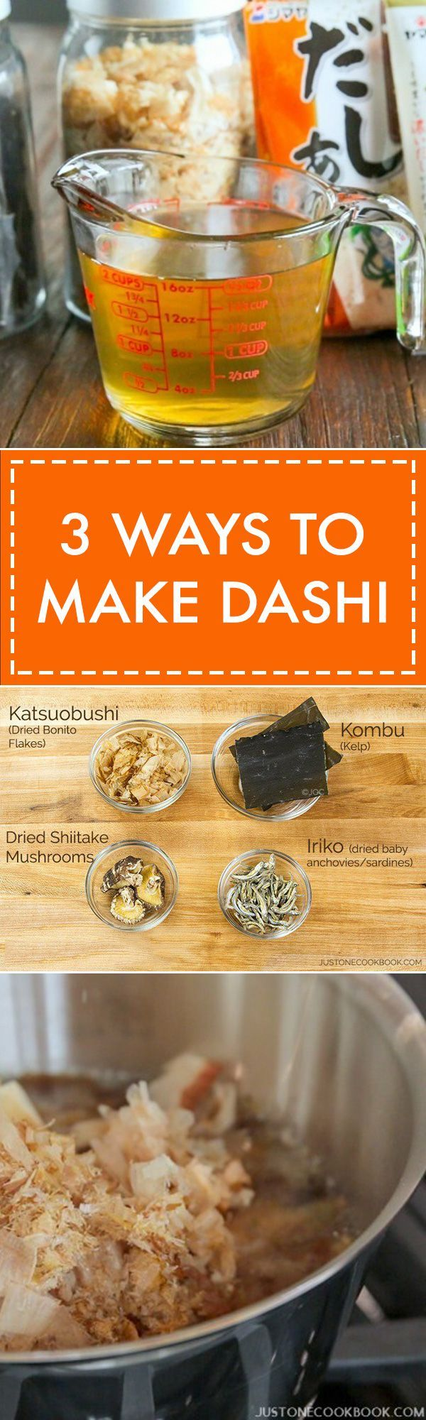 3 Ways to Make Dashi | Easy Japanese Recipes at JustOneCookbook.com