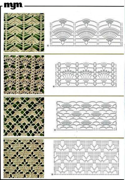 crochet lace charts, patterns