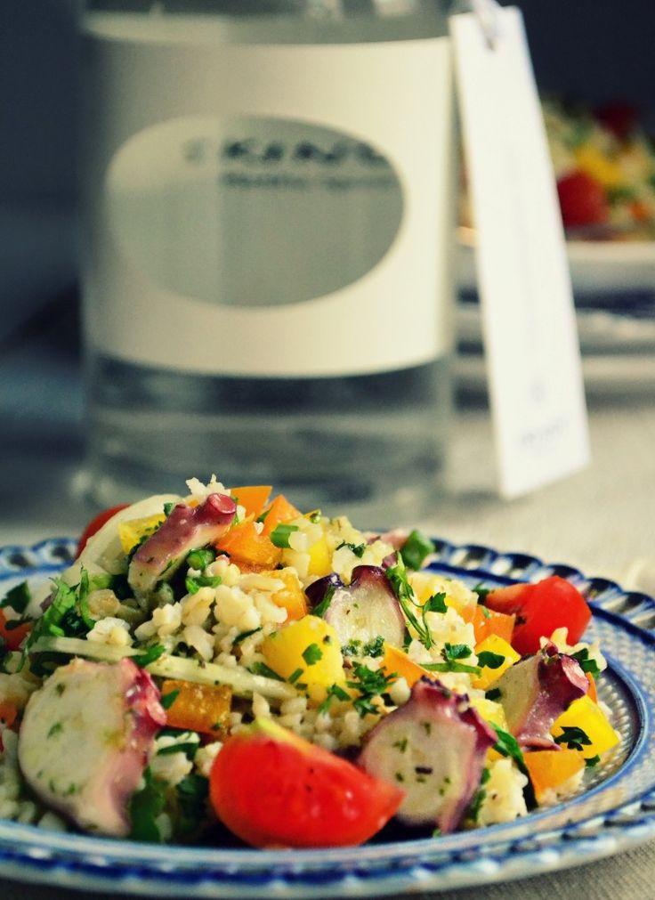 Σαλάτα με Χταπόδι, Πλιγούρι και Λικέρ Μαστίχα