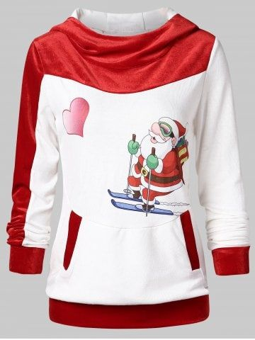 2aee30632 Christmas Santa Claus Print Hoodie in 2018 | Christmas leggings | Pinterest  | Christmas, Santa and Christmas leggings