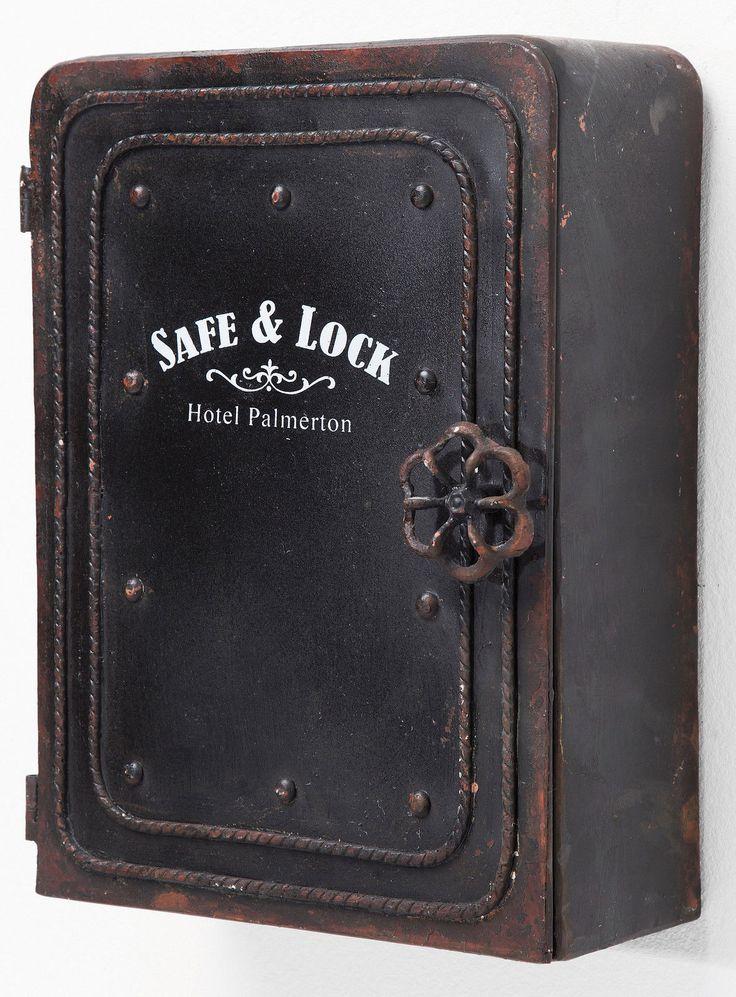 Kare Schlüsselkasten Safe 6 Haken Tresor Vintage in Möbel & Wohnen, Klein- & Hängeaufbewahrung, Schlüsselkästen | eBay