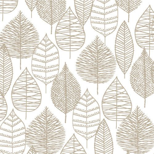 Line Leaf in Gray