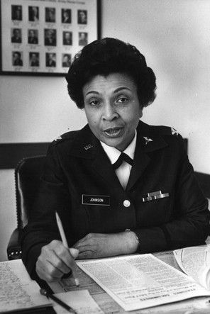 Hazel Johnson-Brown - Made military history in 1979 when she was promoted to brigadier general and, at the same time, to the command of the 7,000 nurses in the Army Nurse Corps. She was the first black woman to hold both posts.