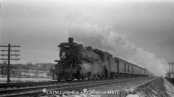 Montreal to Ottawa local between Westmount and Montreal West, spring of 1938