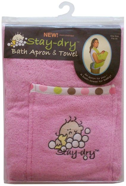 I'm learning all about Stay-Dry Bath Apron And Towel Pink at @Influenster!