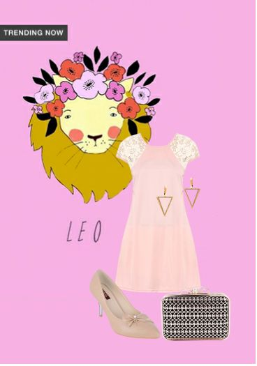 'Leo' by me on Limeroad featuring Solids Pink Dresses, Black Clutches with Beige Pumps