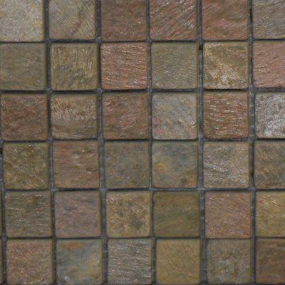 Copper Natural Mosaic Square #Backsplash Tile - Perfect for a #Craftsman #Kitchen Design