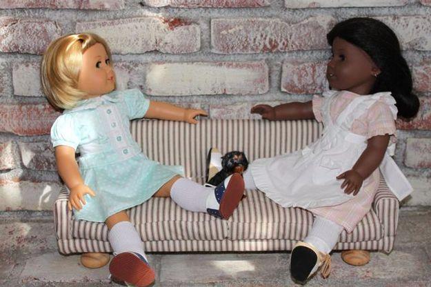 Upholstered Sofa | 39 American Girl Doll DIYs That Won't Break The Bank