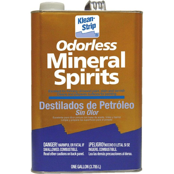 mineral spirits cleaning wood