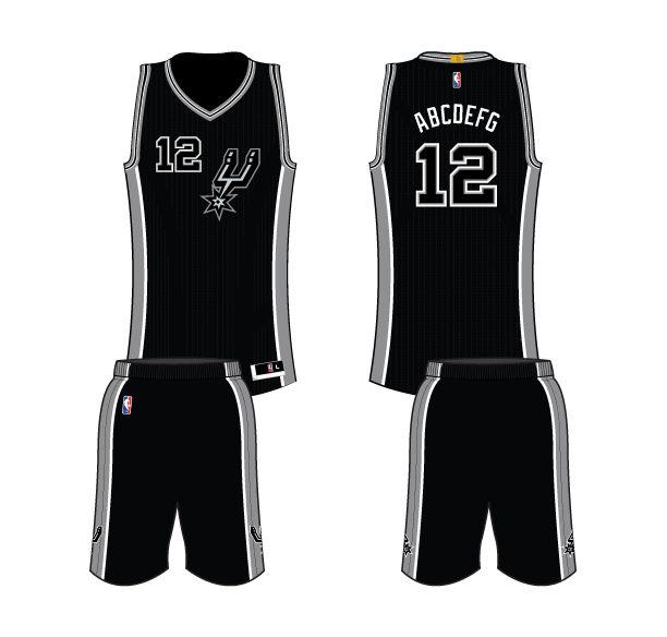 41b1a9ba807 ... jersey -By VNdesign San Antonio Spurs Alternate Uniform 2016- Present  ...