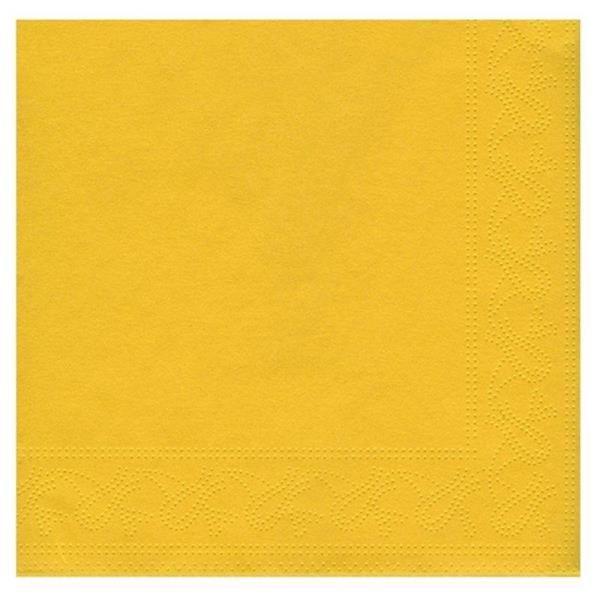 Sarı Renk 50 Adet Kağıt Parti Peçetesi 33 cm