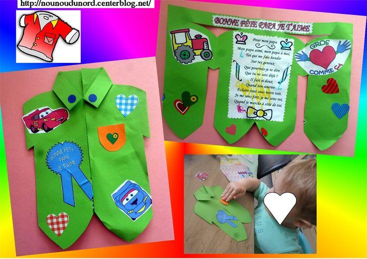 http://nounoudunord.centerblog.net/4009-cartes-realisees-par-arthur-pour-la-fete-des-peres?ii=1 Carte chemise réalisées par Arthur pour la fête des pères