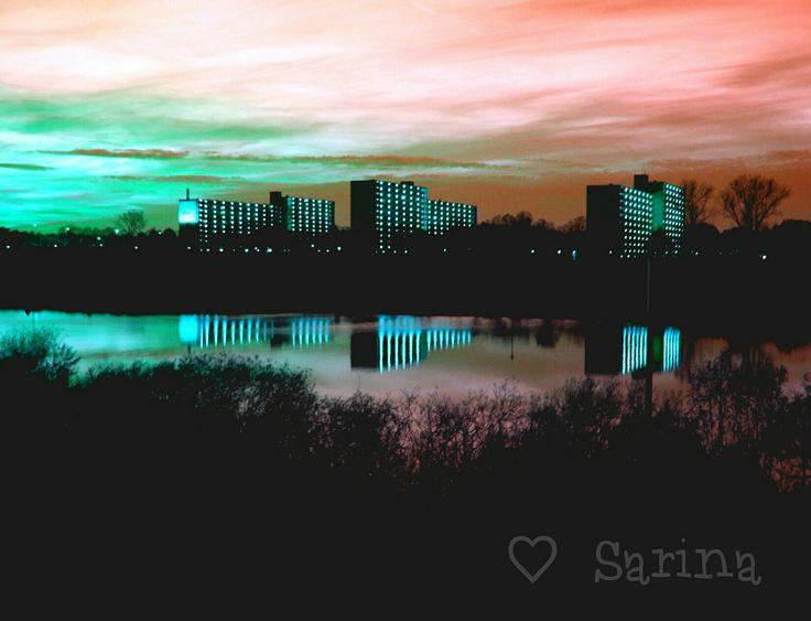Sunset in the Netherlands. Venlo. Blerick. Molenbossen. Sky. Colours.