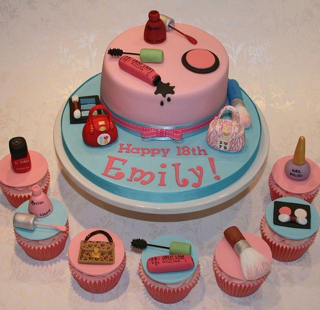 Makeup Cake Decorations : Best 25+ Makeup cakes ideas on Pinterest Makeup birthday ...