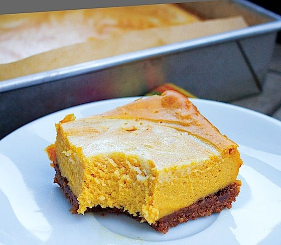 PUMPKIN CHEESECAKE BARS | Cookies, Cakes & Pies Oh My ...