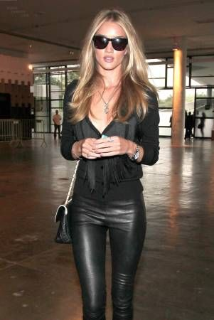 black leather pants & all black!!