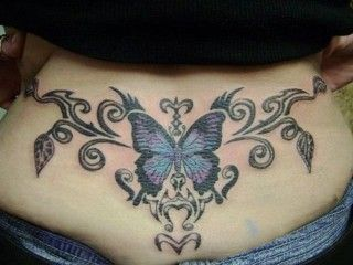 Fantastic Low Back Tattoos Pictures