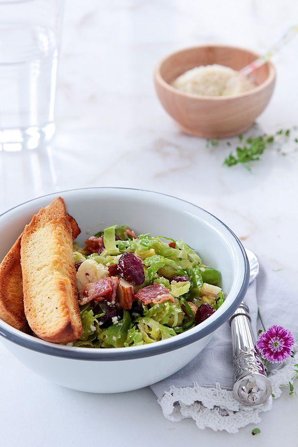 Food and Cook by trotamundos » Ensalada de invierno con coles de bruselas, parmesano y beicon