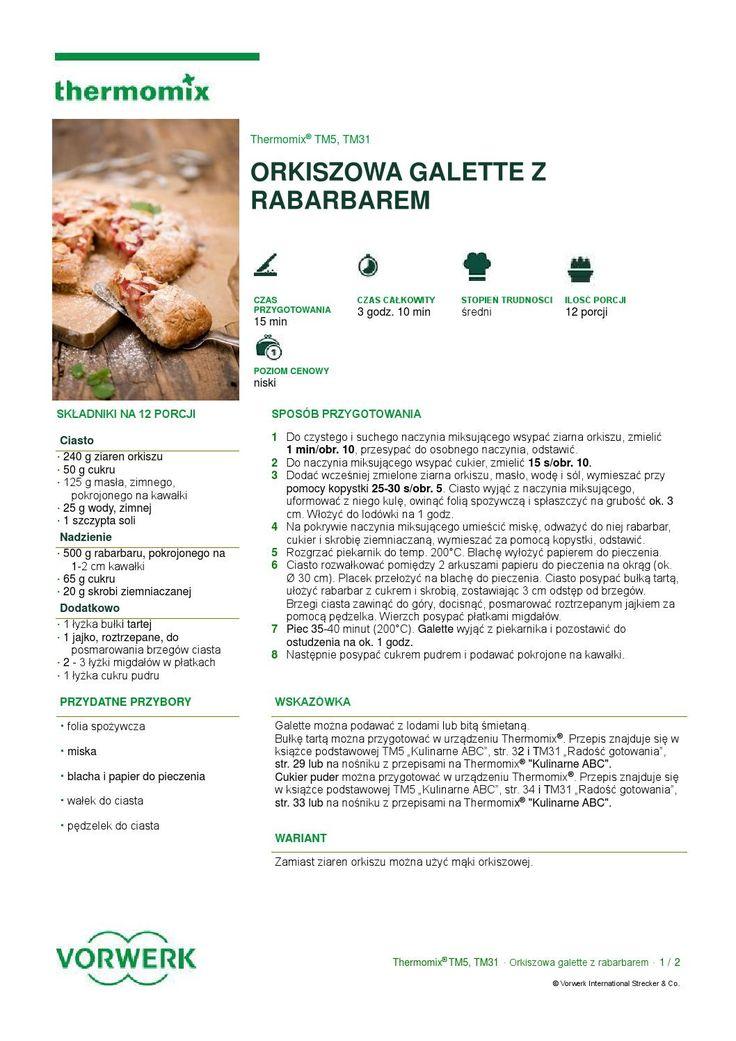 Orkiszowa galette z rabarbarem