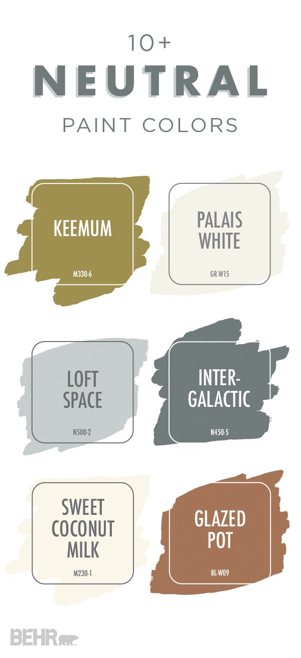 Using a mixture of neutral colors in your home is a classic and timeless way to achieve a interior design style that will last you for years to come. This neutral color palette from BEHR is a great place to start if you need a little inspiration. Try mixing warm colors like Keemun and Glazed Pot with softer creams like Palais White and Sweet Coconut Milk.
