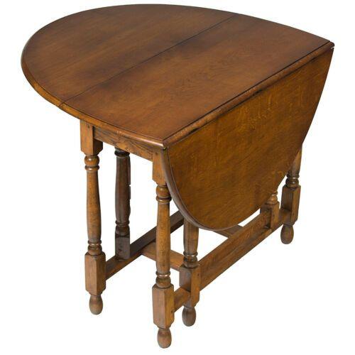 English Antique Oak Swing Gate Leg Drop Leaf Side Sofa ...