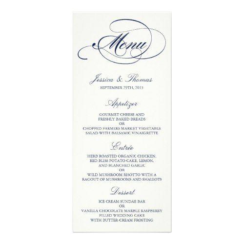 The 25+ best Wedding menu template ideas on Pinterest Wedding - wedding menu template