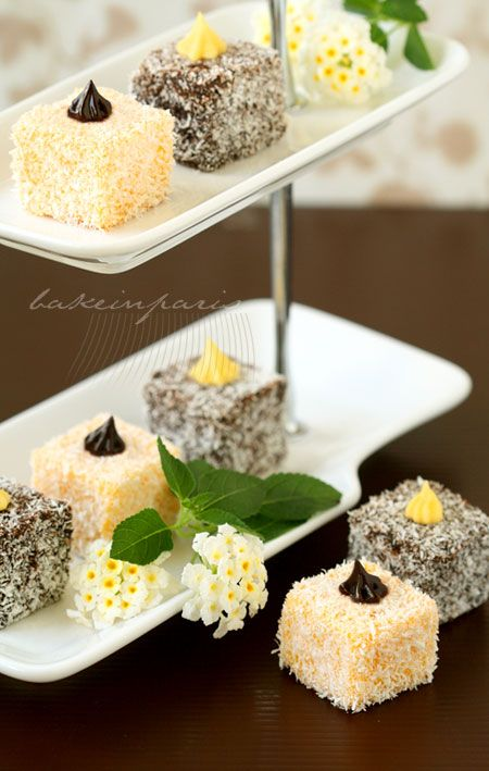 Passionfruit & Chocolate Lamingtons
