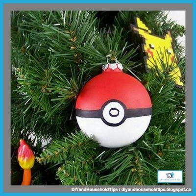 DIY And Household Tips: DIY Pokeball Christmas Ornament