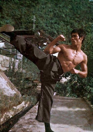 Bruce Lee. Kick, yeah! :)