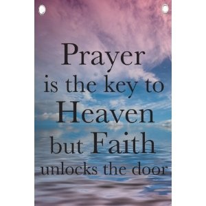 Faith Unlocks the Door - Religious Quotes - Wall Quotes Canvas Banner