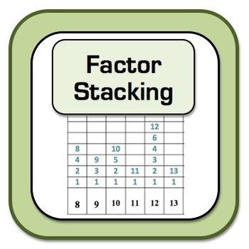 Factor Stacking!  Number Theory Activity - Very Visual so students can *SEE* what Prime and Composite mean