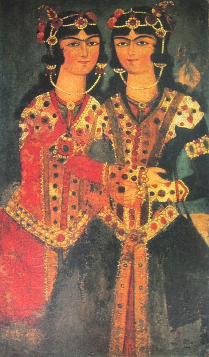 Qajar Art  twins - Iranian Art- Iran