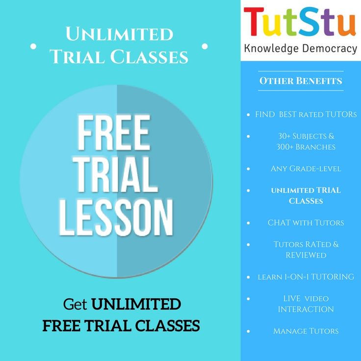 TutStu offers students UNLIMITED FREE TRIAL Classes. Students can take anytime free trials from any teachers at TutStu.