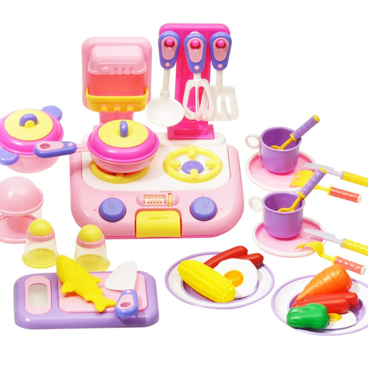 Child Toy 38 Set Kitchen Children Play House Group Cooking Toys