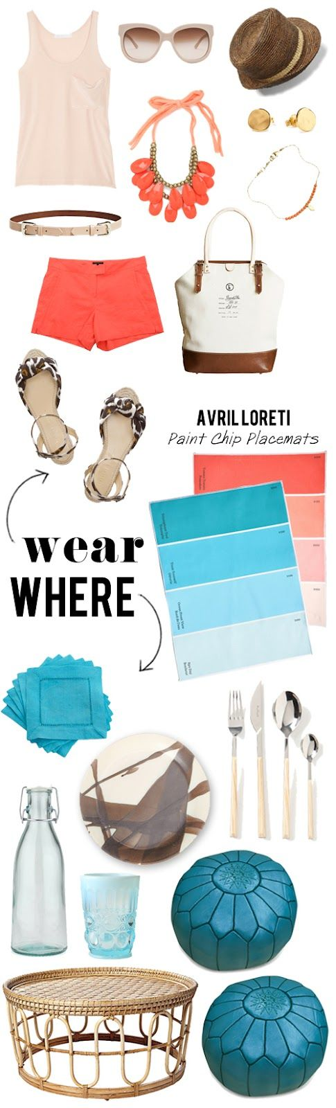 apartment 34: where/wear: Summer Picnic, Colors Combos, Color Combos, Summer Colour, Fashion Apartment, Apartment 34, Colors Palette Like, Colors Together