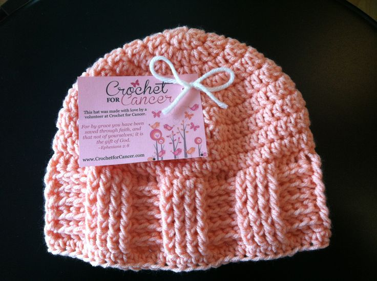 Crochet Patterns Hats For Cancer Patients : Crochet for Cancer....Pattern..This is a nice pattern for ...